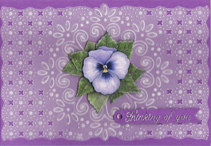 3D Pansy with vellum overlay (by Tassie Scrapangel)