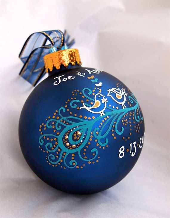 Hey, I found this really awesome Etsy listing at https://www.etsy.com/listing/79984860/peacock-wedding-ornament-personalized