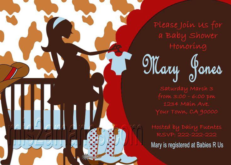 Western Baby Shower Invites  Cowboy Western Party Invitations Printable. $9.00, via Etsy.