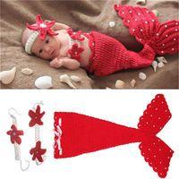 Feitong милый ребенок трикотажные вязания наряды девочка мальчик кепка русалка детские черепаха черепаха новорожденных костюм опора