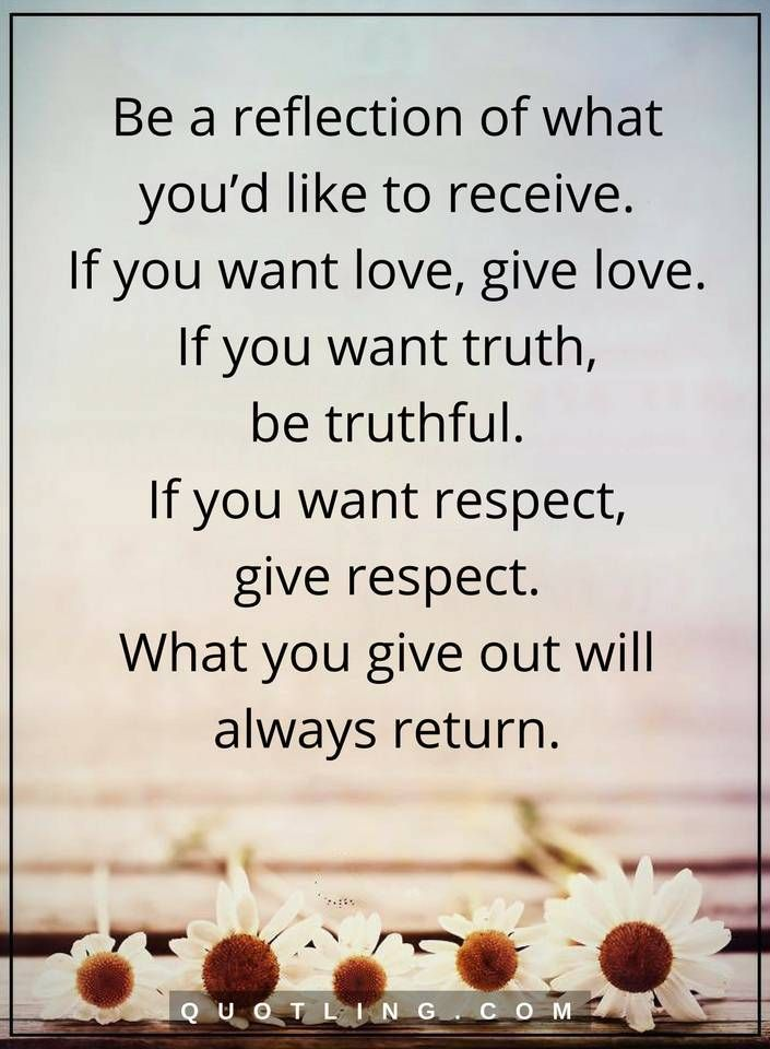 Be a reflection of what you'd like to receive | Life Lessons