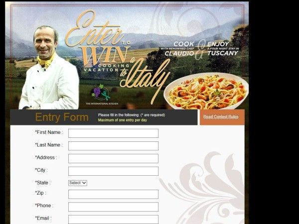 """Saputo Cheese USA Inc. Stella """"Win a Cooking Vacation in Italy!"""" Sweepstakes"""