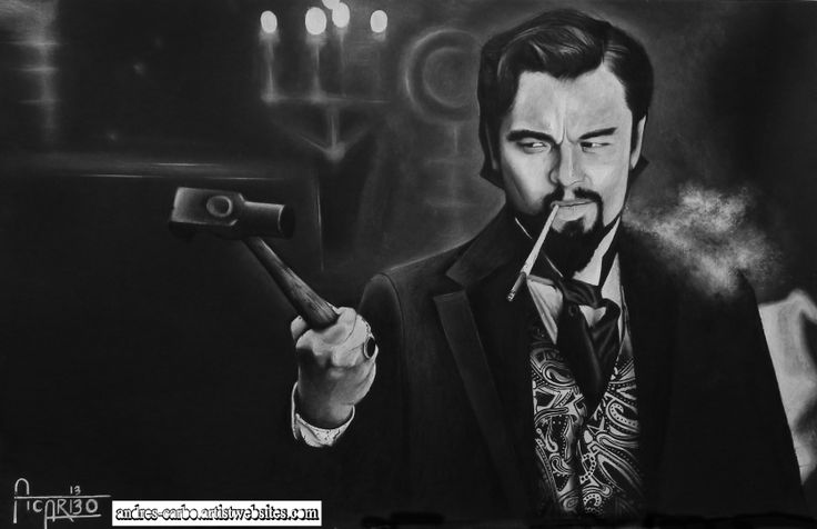 Realism Artwork of Leonardo DiCaprio in the movie Django Unchained.. Original and Museam quality prints available at   http://andres-carbo.artistwebsites.com/