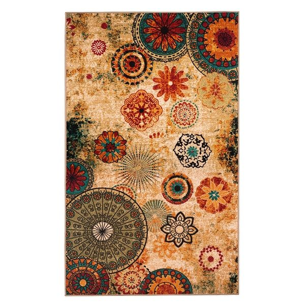 New Medallion Multi Colored Area Rug 8X10carpetSoft RugLiving Room