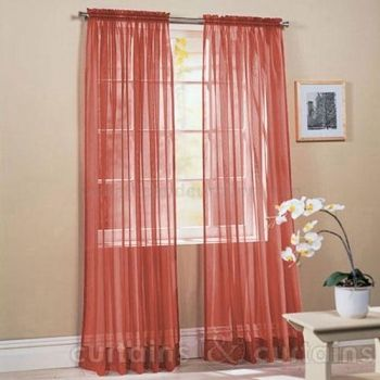 Light and bright terracotta #voile #curtains