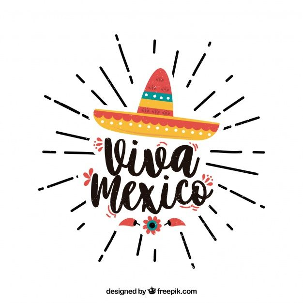 Viva Mexico Lettering Background With Hat Viva Mexico Mexico Wallpaper Mexico Design