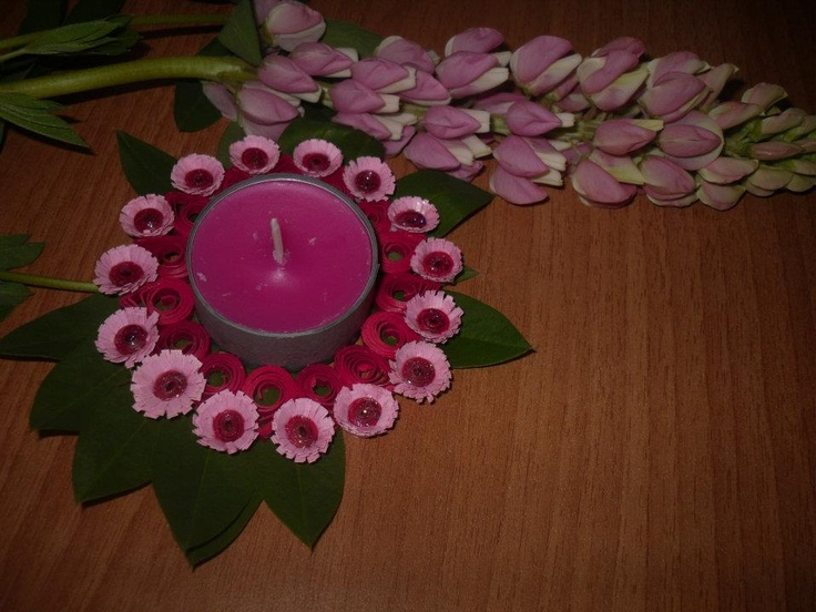 1000 images about quilled candle holders on pinterest for Cardboard candle holders