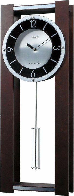 Rhythm Clocks WSM Espresso II Musical Wall Clock CMJ541UR06 | LampsUSA