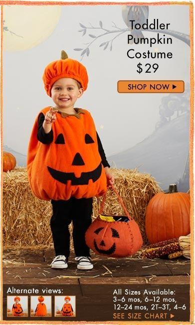 toddler pumpkin costume   Toddler Pumpkin