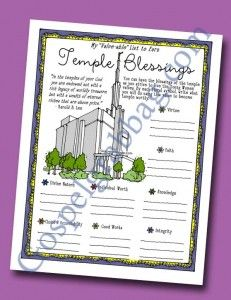 "$0.50 - Temple Ordinance - Marriage, LDS Lesson Activity, Come Unto Christ, ""Why is a temple marriage important?"" young women, gospelgrabbag..."
