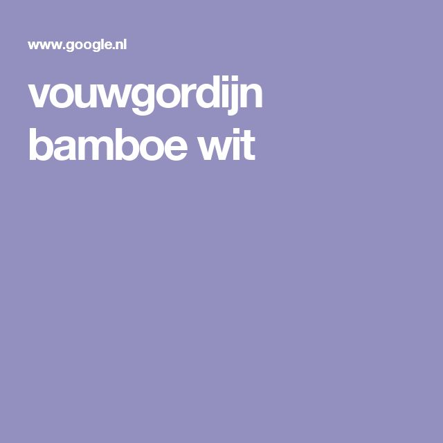 vouwgordijn bamboe wit