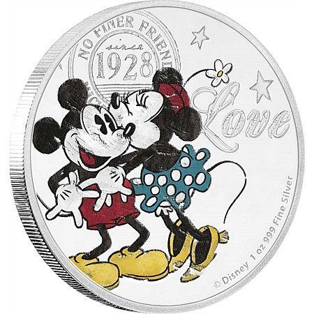 Disney Love Silver Coin 2017 - True Love Forever - NZ Mint