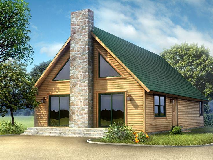 All American Homes canyon view (plan b) floorplan of ameri-log collection - modular