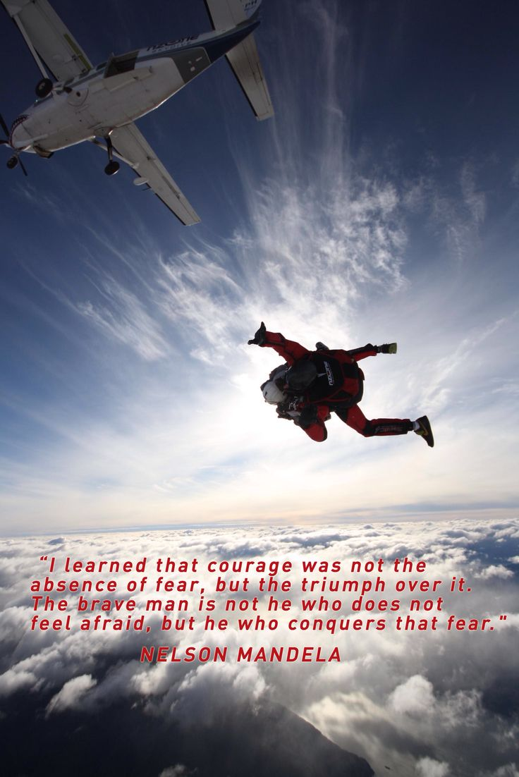 "NZONE Skydive (Queenstown) - Nelson Mandela ""Courage"" - Quote"
