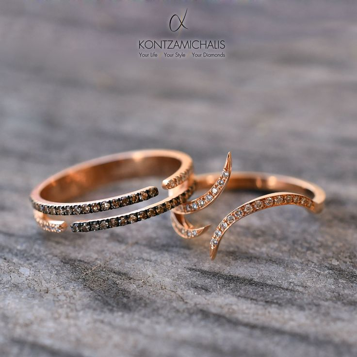 Make your fashion statement with this magnificent pair of rings. #KontzamichalisJewellery  Order your own unique, custom-made piece: http://kontzamichalis.com/contact