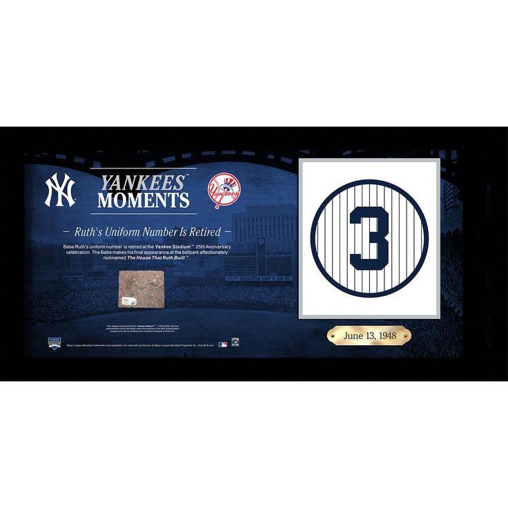 Babe Ruths Uniform Number (3) Retired 10x20 Collage w Old Yankee Stadium Brick