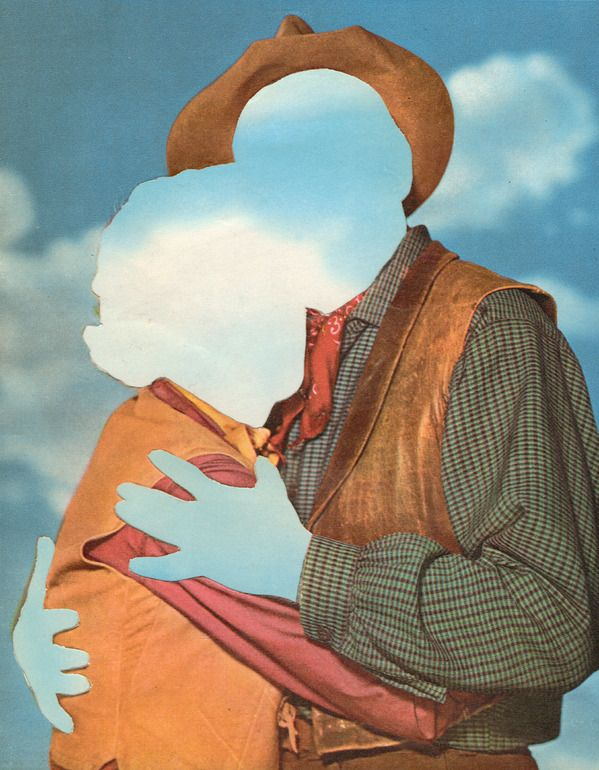 "It is like insert face here / Saatchi Online Artist: Joe Webb; Photomontage, 2012, Assemblage / Collage ""Daydream I"""