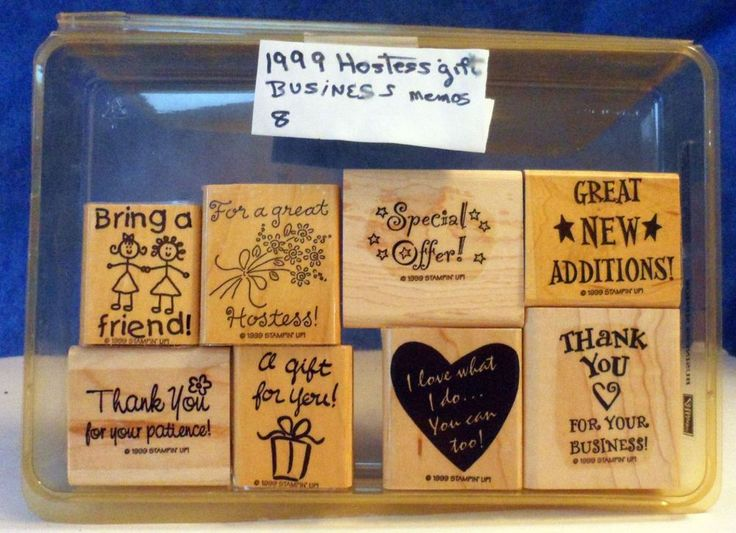 Stampin' Up! 1999 Hostess Gift Business Memos Scrapbooking Rubber Stamps  E6…