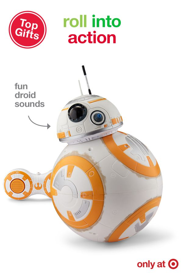 Give a little part of Star Wars this Christmas with the Star Wars: The Force Awakens Remote Control BB-8 Droid. This super sphere rolls in 5 different directions, allowing for maximum fun. Plus BB-8 and makes expressive movie-authentic droid sounds as it explores the galaxy. This is the ultimate Star Wars gift… exclusively at Target.