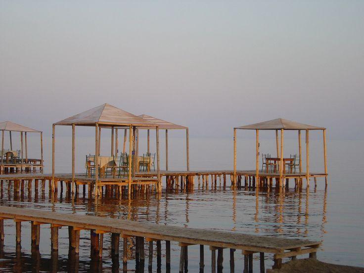 restaurant in the lake