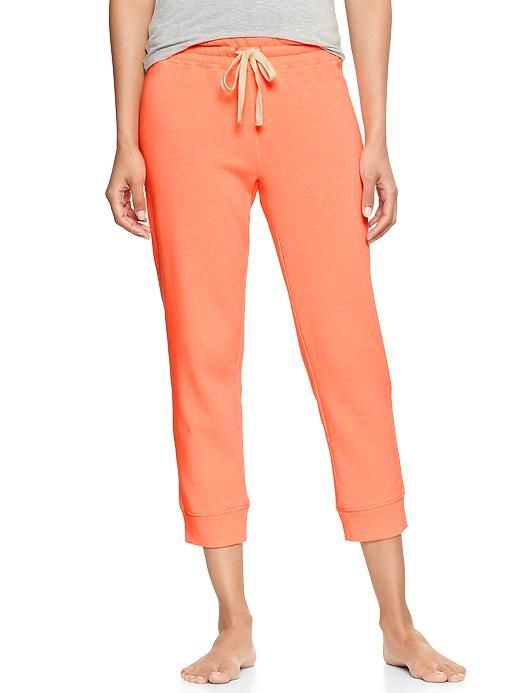 Gap Fleece Capris in Neon Orange