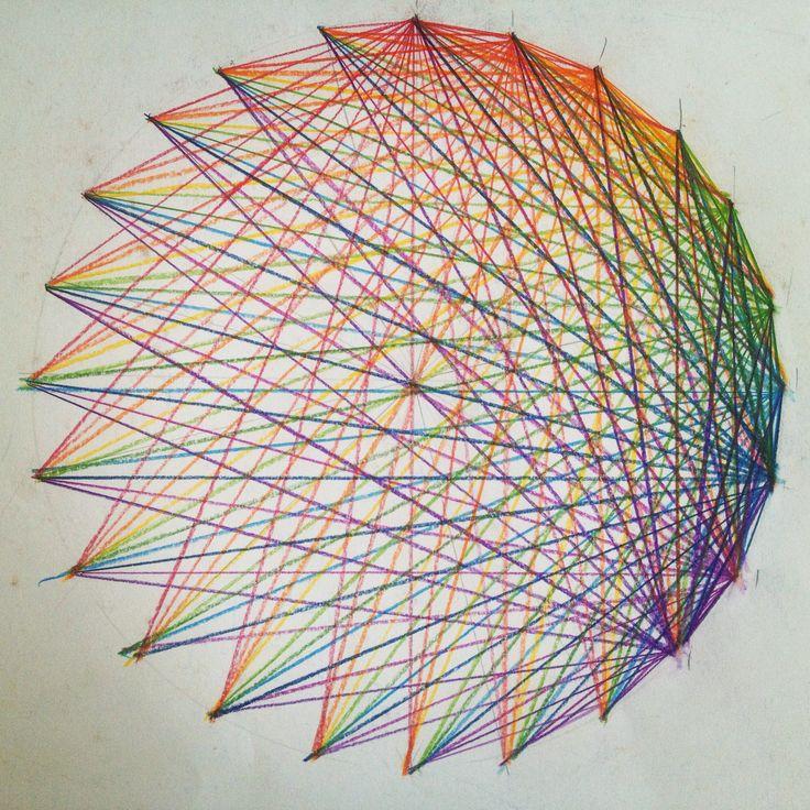 24-division of a circle. Waldorf 6th grade. Geometric drawing.
