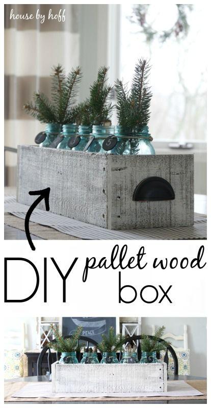 DIY Pallet Wood Box  via House by Hoff