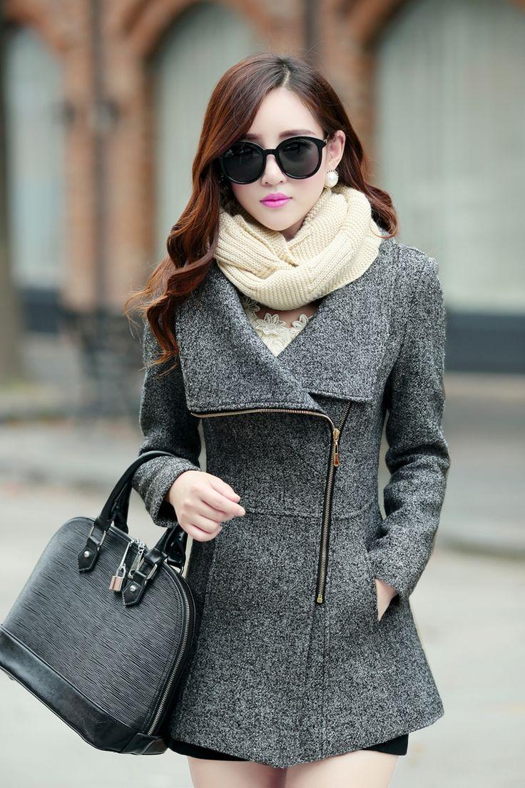 Long Sleeves Wool Coat
