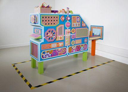 Zim & Zou - Creative Factory : handmade installation for the Children's Workshop at the Pompidou Center of Metz Tiphaine-illustration  #engine #paper