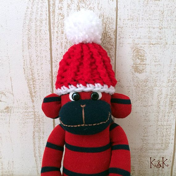 Sock Monkey Doll Boy 89  Sock Monkey Plush by KnKCraftsAndDesigns