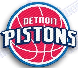 FREE SHIPPING IN THE USA - detroit pistons iron on embroidery patch - 2 INCH patch NBA BASKETBALL michigan - 100% EMBROIDERED PATCHES - IRON IT ON OR SEW IT ON - hoops