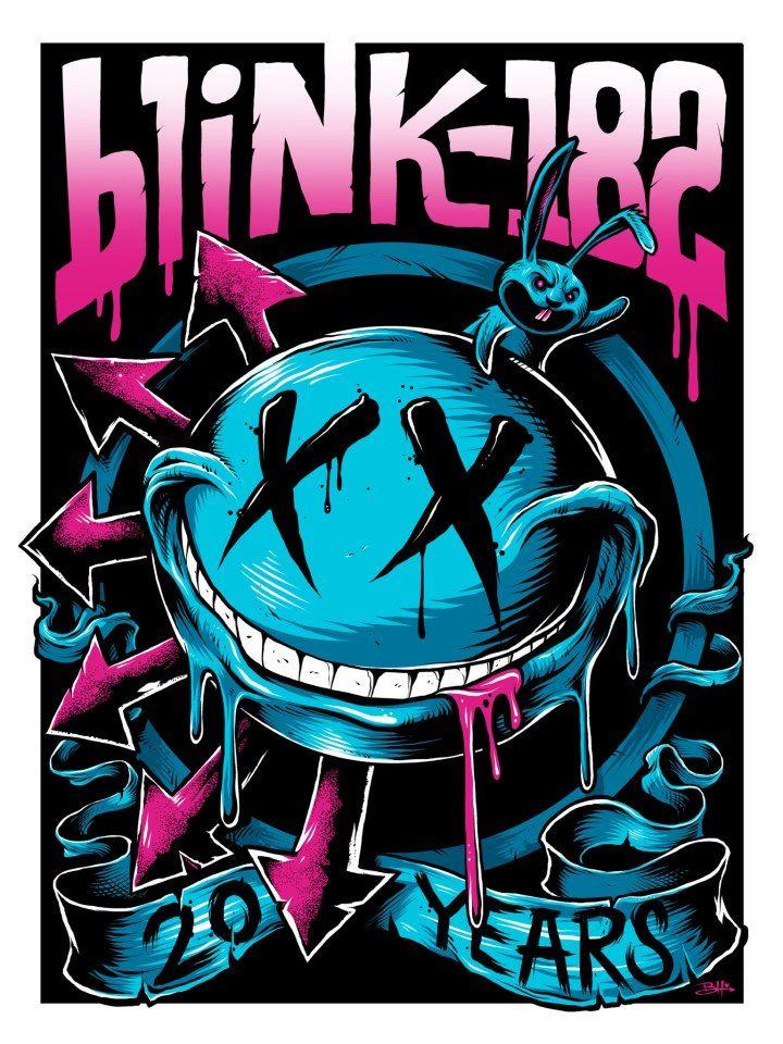 Blink 182 - 20th Anniversary Poster - Brandon Heart