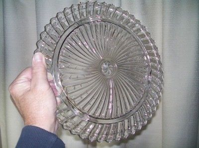 Clear Depression Glass Cake Dish Stand