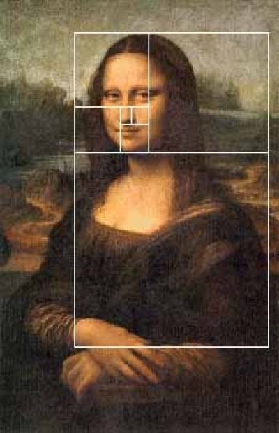 the golden ration in the mona lisa