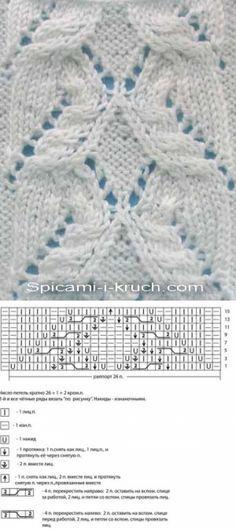 Схемы узоров спицамиСпицами и крючком