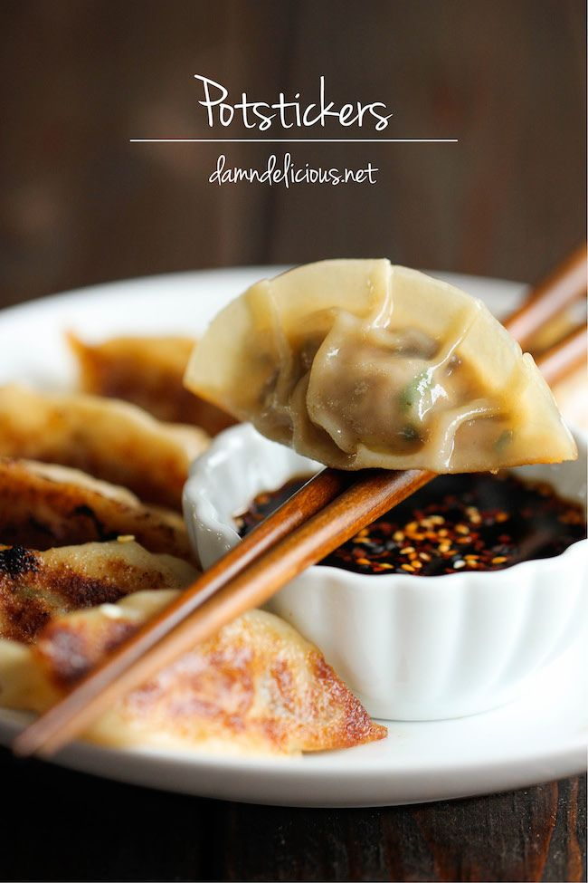 Homemade potstickers