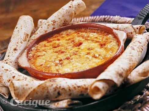 Queso Fundido with Beef Chorizo | Cacique USA -  Aaron Sanchez