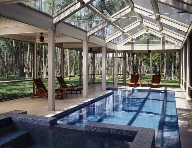 19 Stunning Covered Pool Design Ideas Indoor Outdoor Pool Swimming Pool Enclosures Indoor Pool Design