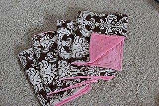 DIY burp cloths...need to get some minky fabric!