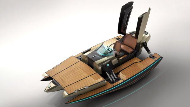 ヨット、カヌー、ジェットスキーなどに変身してしまうモーターボートデザイン「KORMARAN」の紹介