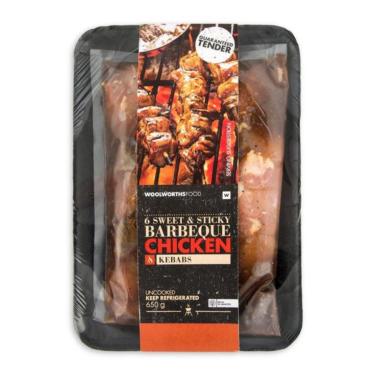 Sweet & Sticky BBQ Chicken Kebabs 650g 80