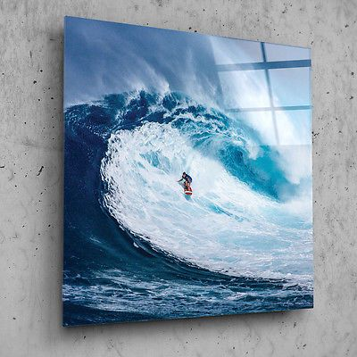 Printed glass wall art picture ready to hang