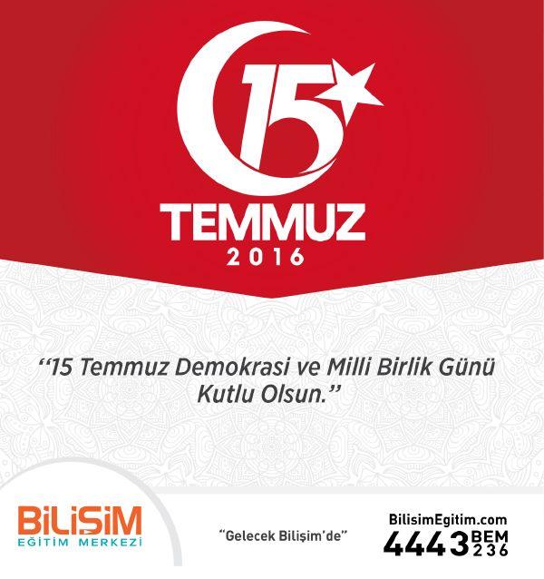 15 Temmuz Demokrasi ve Milli Birlik Günü Kutlu Olsun! #15Temmuz #15temmuzdemokrasivemillibirlikgünü