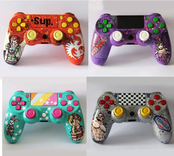Custom Borderlands Playstation 4 controller or by DevidedPursuits