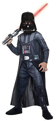 Child's Darth Vader Classic Star Wars Costume:Jumpsuit/Cape/Mask Rubies 810699