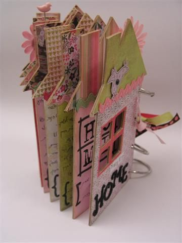 All My Homes – Chipboard House Mini Album by skubach, via Flickr