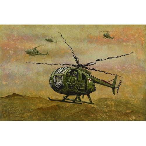 Tornado Formation by David Lozeau War Army Helicopter Canvas Art Print
