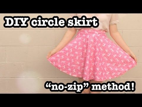 DIY Circle Skirt - FREE Sewing Tutorial (No-Zip Method)