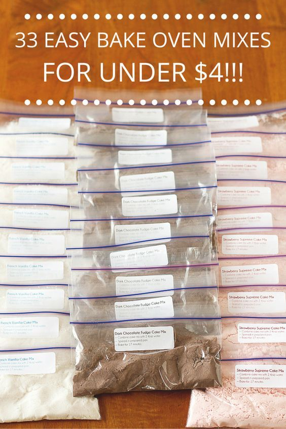 33 Easy Bake Oven Mixes for Under $4 -- learn how to make your own Easy Bake Oven refills from boxed cake mixes, yields 33 refills for under $4!!! If you have a little girl that loves to bake with her Easy Bake Oven, you NEED to read this now...