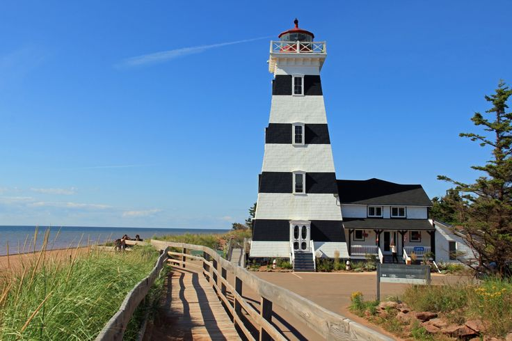 The lighthouse at West Point - the highest in PEI - is also an inn. It is only open in the summer, and sits next to Cedar Dunes Provincial Park and a very walkable beach.